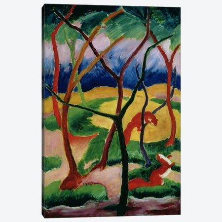 Weasels Playing, 1911  Canvas Print #BMN4712} by Franz Marc Canvas Artwork