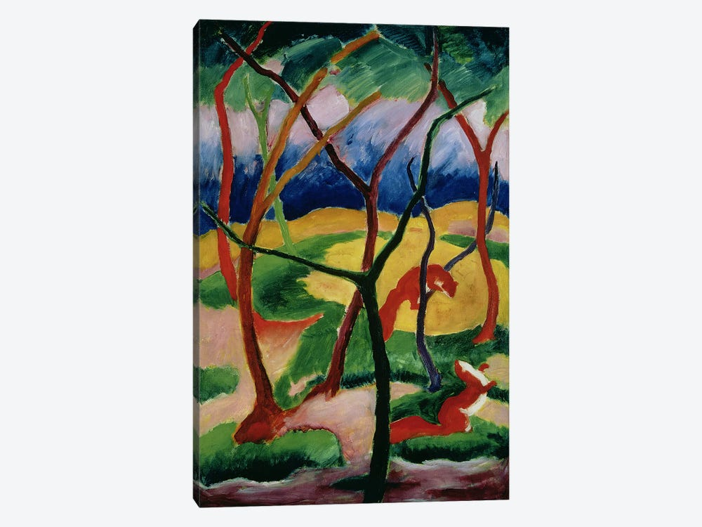 Weasels Playing, 1911  by Franz Marc 1-piece Canvas Art Print