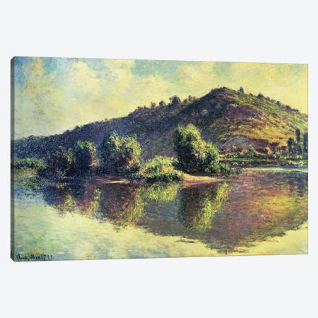The Seine at Port-Villez, 1883  Canvas Print #BMN4713} by Claude Monet Canvas Artwork