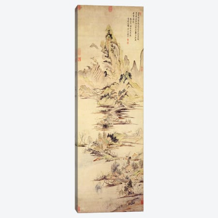 The Enjoyment of the Fisherman in the Water Village  Canvas Print #BMN4714} by Yun Shouping Canvas Art Print