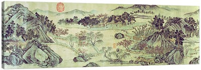 The Peach Blossom Spring from a poem entitled 'Tao Yuan Bi Jing' written by Wang Wei  Canvas Print #BMN4715