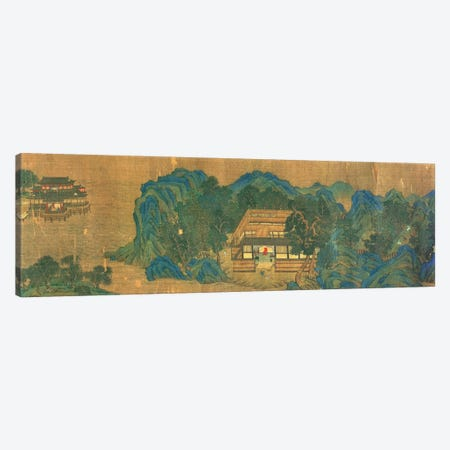 Wang Chuan's Residence, after the Painting Style and Poetry of Wang Wei  Canvas Print #BMN4716} by Qiu Ying Art Print