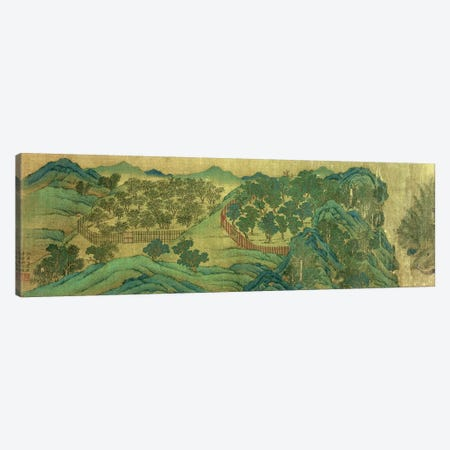The Garden of Wang Chuan's Residence, after the Painting Style and Poetry of Wang Wei  Canvas Print #BMN4717} by Qiu Ying Art Print