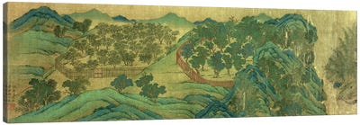 The Garden of Wang Chuan's Residence, after the Painting Style and Poetry of Wang Wei  Canvas Art Print