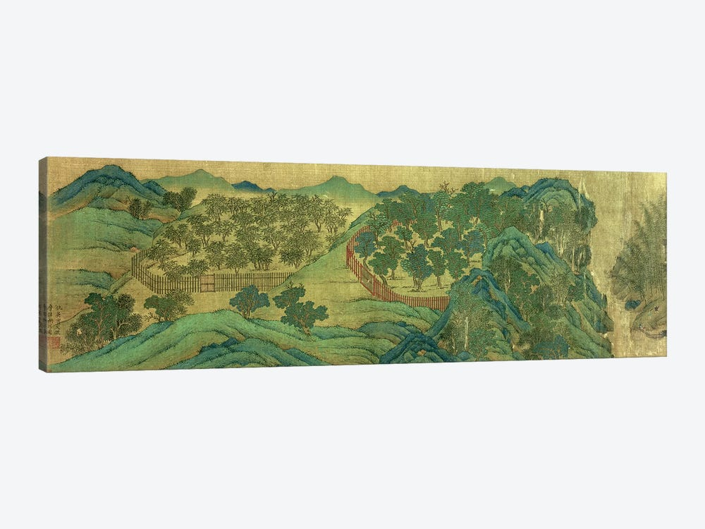 The Garden of Wang Chuan's Residence, after the Painting Style and Poetry of Wang Wei  by Qiu Ying 1-piece Canvas Artwork