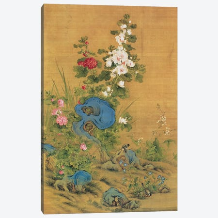 Hibiscus and Birds  Canvas Print #BMN4718} by Lang Shining Canvas Wall Art