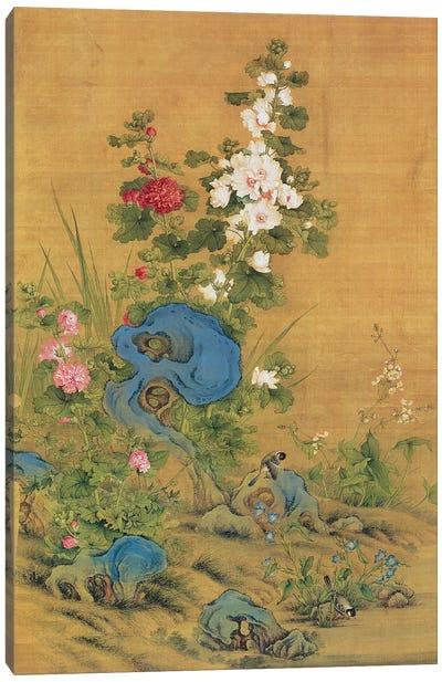 Hibiscus and Birds  Canvas Art Print