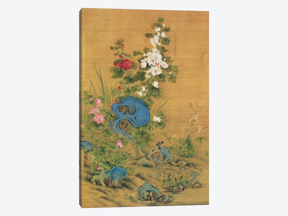 Hibiscus and Birds  by Lang Shining 1-piece Canvas Print