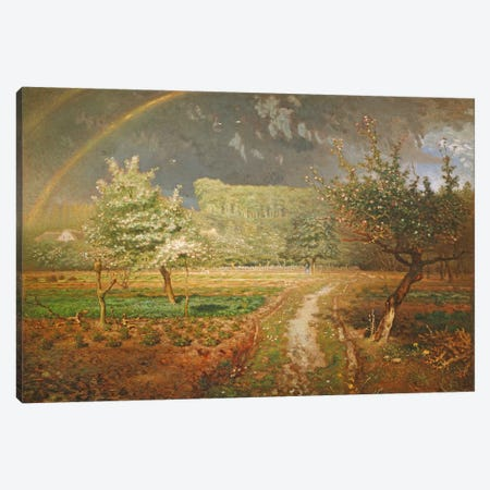 Spring at Barbizon, 1868-73  Canvas Print #BMN471} by Jean-Francois Millet Art Print