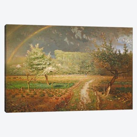 Spring at Barbizon, 1868-73  Canvas Print #BMN471} by Jean-Francois Millet Art Print