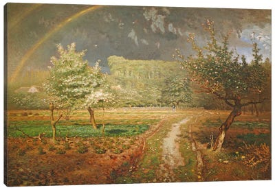 Spring at Barbizon, 1868-73  Canvas Art Print