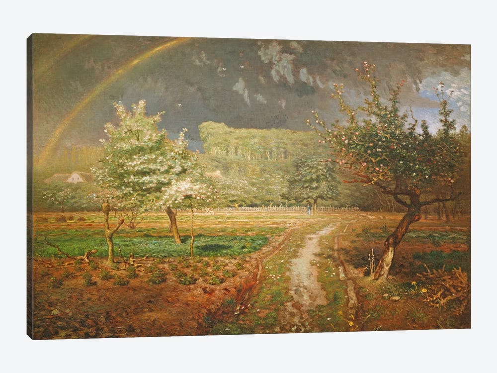 Spring at Barbizon, 1868-73  by Jean-Francois Millet 1-piece Canvas Artwork