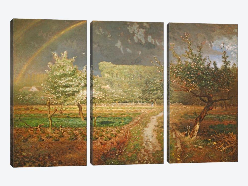 Spring at Barbizon, 1868-73  by Jean-Francois Millet 3-piece Canvas Artwork