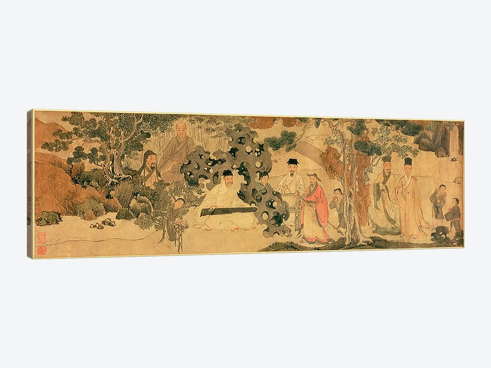 Literi Gathering in Qinglin by Chinese School 1-piece Canvas Artwork