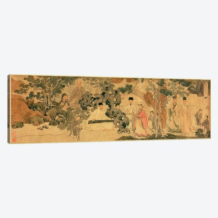 Literi Gathering in Qinglin  Canvas Print #BMN4722} by Chinese School Canvas Art Print