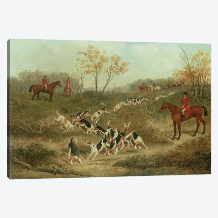 On the Scent, 1846  Canvas Print #BMN4725} by James Russell Ryott Canvas Artwork