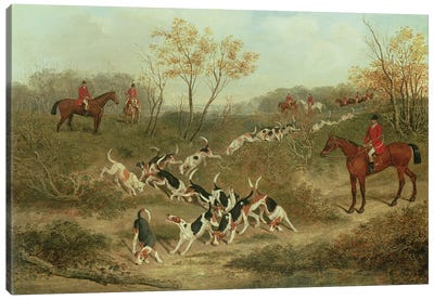 On the Scent, 1846  Canvas Art Print