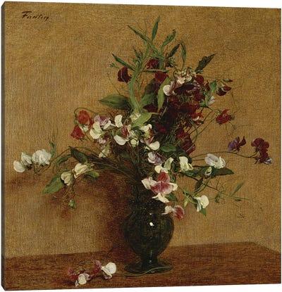 Sweet Peas in a Vase, 1888  Canvas Art Print