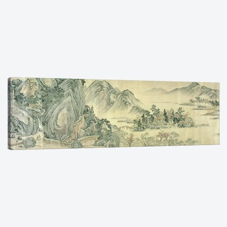 The Peach Blossom Spring  Canvas Print #BMN4729} by Wen Zhengming Canvas Print