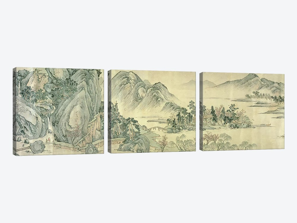 The Peach Blossom Spring  by Wen Zhengming 3-piece Art Print