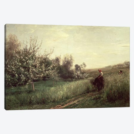 Spring, 1857  Canvas Print #BMN472} by Charles Francois Daubigny Canvas Art Print