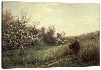 Spring, 1857  Canvas Art Print