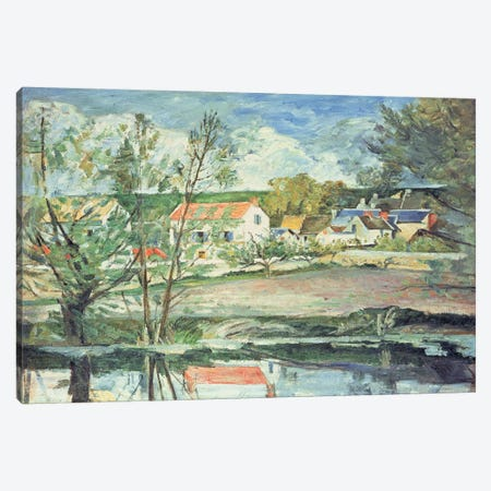 In the Oise Valley  Canvas Print #BMN4730} by Paul Cezanne Canvas Wall Art