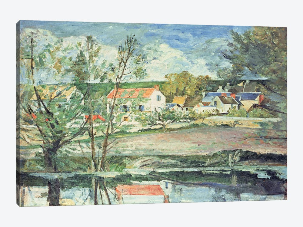 In the Oise Valley  by Paul Cezanne 1-piece Canvas Art Print