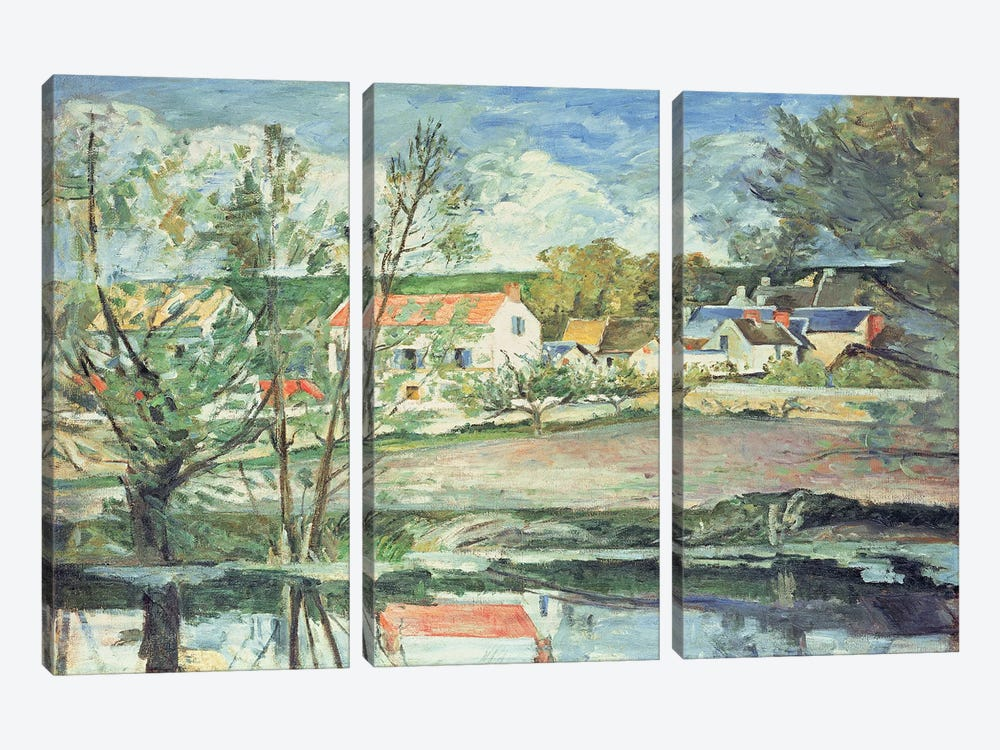 In the Oise Valley  by Paul Cezanne 3-piece Art Print