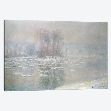 Ice at Bennecourt, 1898  Canvas Print #BMN4731} by Claude Monet Canvas Artwork
