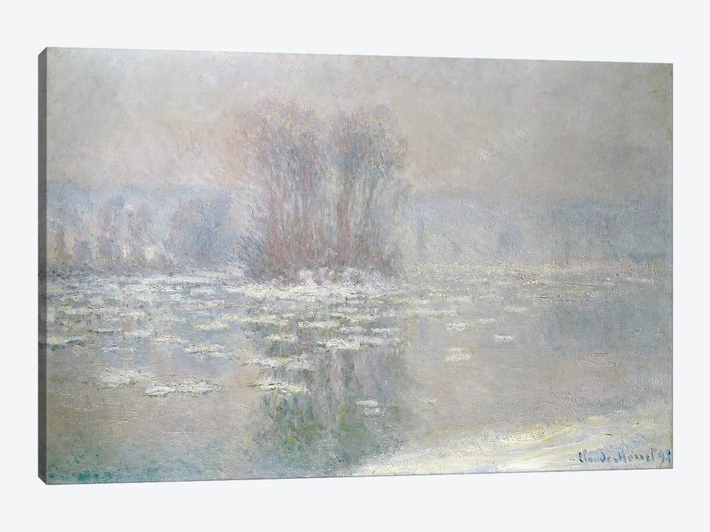 Ice at Bennecourt, 1898  by Claude Monet 1-piece Canvas Artwork