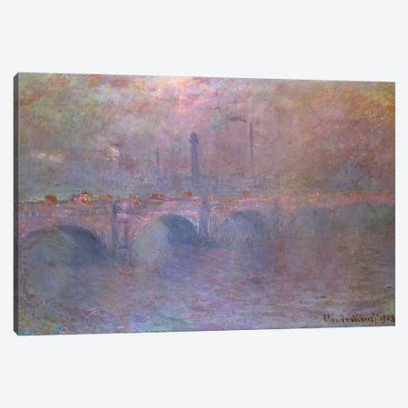 The Thames at Waterloo Bridge, 1903  Canvas Print #BMN4732} by Claude Monet Canvas Artwork