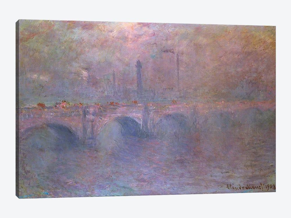 The Thames at Waterloo Bridge, 1903  by Claude Monet 1-piece Canvas Print