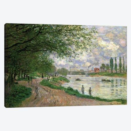 The Island of La Grande Jatte  Canvas Print #BMN4733} by Claude Monet Canvas Artwork