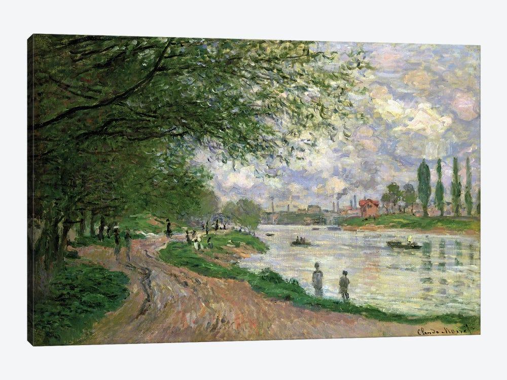 The Island of La Grande Jatte  by Claude Monet 1-piece Canvas Wall Art