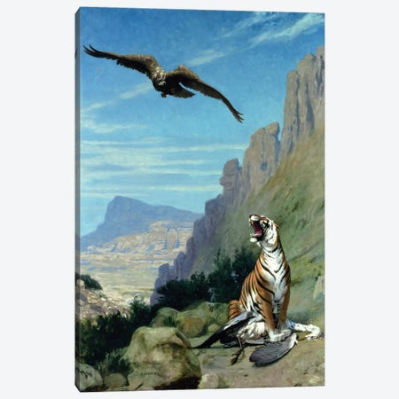 Tiger and Vulture  Canvas Print #BMN4734} by Jean Leon Gerome Canvas Print
