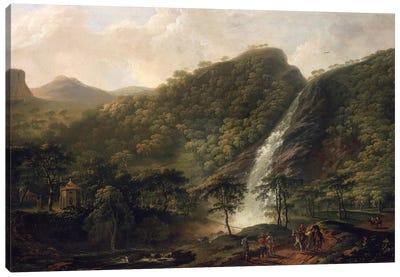 View of Powerscourt Waterfall Canvas Art Print