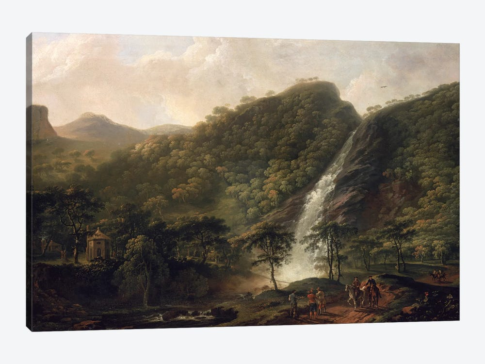 View of Powerscourt Waterfall by George Barret Sr. 1-piece Canvas Wall Art