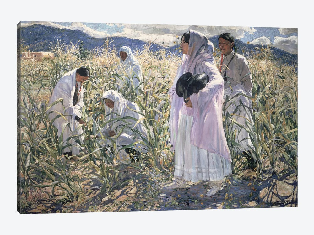 Indian corn, Taos  by Walter Ufer 1-piece Canvas Wall Art