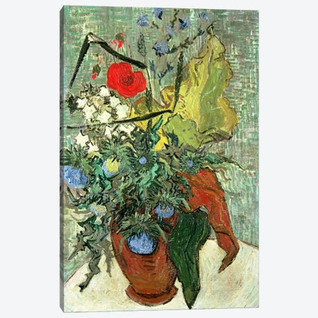 Bouquet of Wild Flowers  3-Piece Canvas #BMN4740} by Vincent van Gogh Art Print