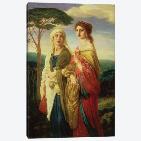 Judith and her Attendant  Canvas Print #BMN4743} by Simeon Solomon Canvas Print