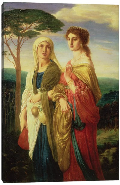 Judith and her Attendant  Canvas Art Print