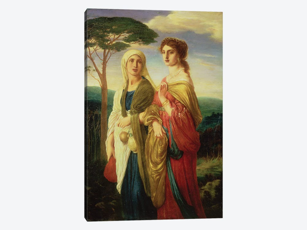 Judith and her Attendant  by Simeon Solomon 1-piece Canvas Print