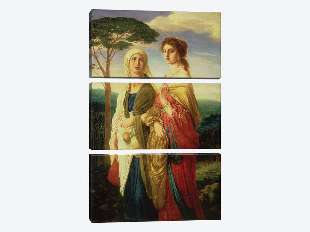 Judith and her Attendant  by Simeon Solomon 3-piece Canvas Art Print