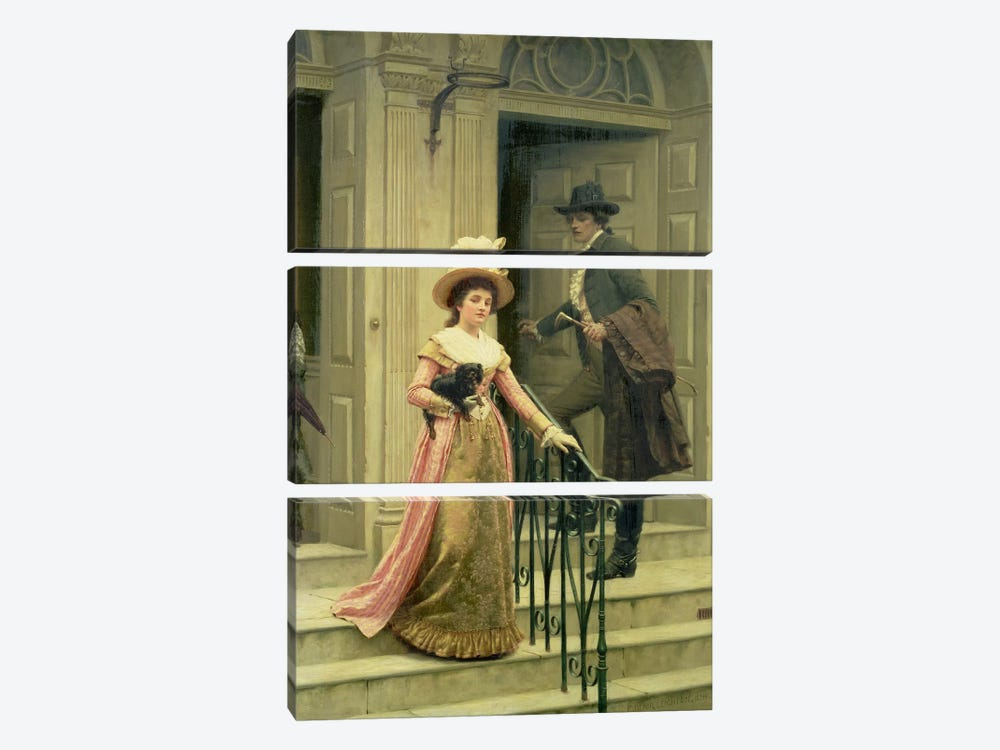 My Next-Door Neighbour, 1894  by Edmund Blair Leighton 3-piece Art Print