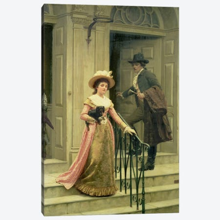 My Next-Door Neighbour, 1894  Canvas Print #BMN4745} by Edmund Blair Leighton Canvas Art