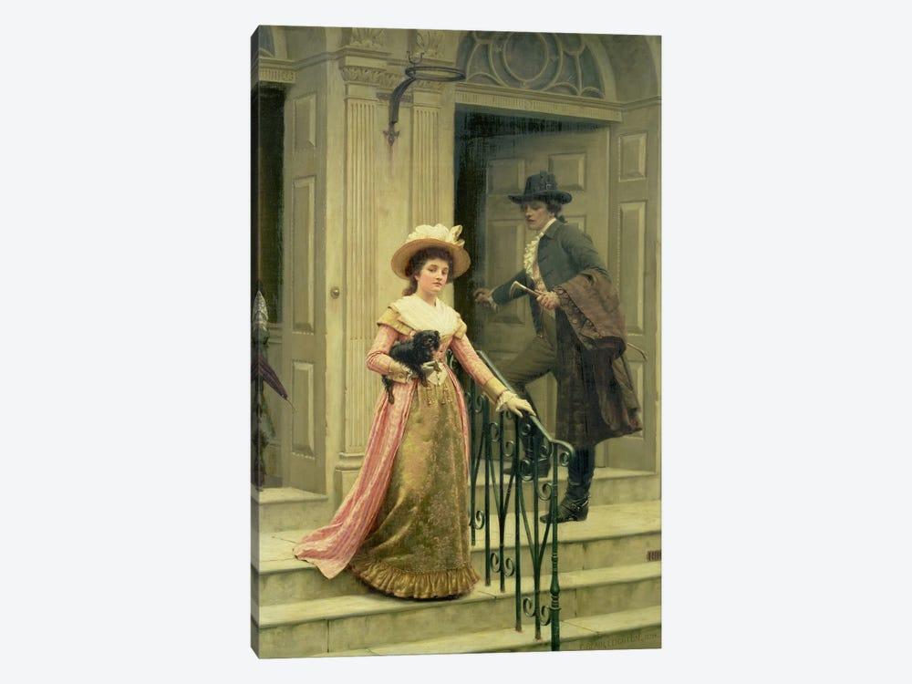 My Next-Door Neighbour, 1894  by Edmund Blair Leighton 1-piece Canvas Art Print
