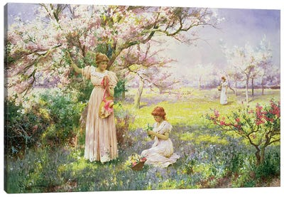 Spring: Picking Flowers, 1898  Canvas Art Print