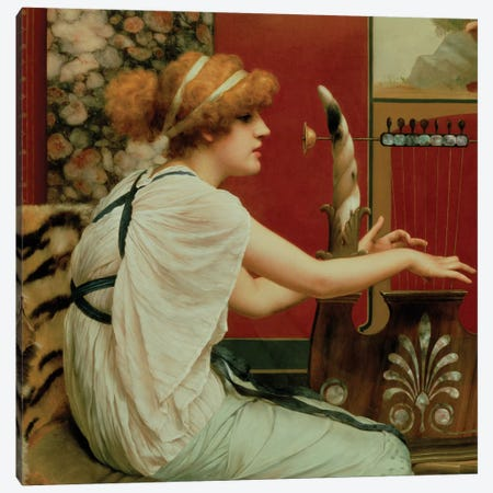 Music Canvas Print #BMN474} by John William Godward Canvas Art