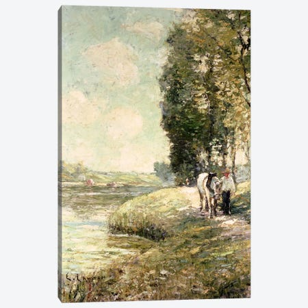 Country Road to Spuyten, Duyvil, New York  Canvas Print #BMN4761} by Ernest Lawson Canvas Art Print